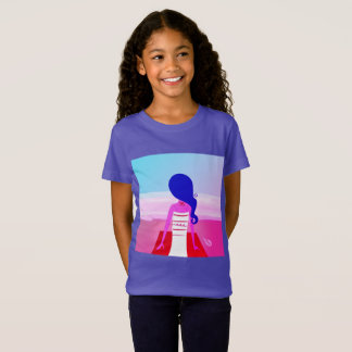 Girls designers tshirt : Meditation theme