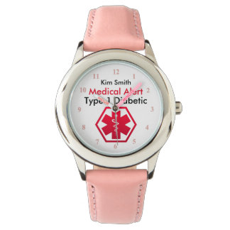 Girls Diabetes Medical Alert Type 1 or 2 Watch