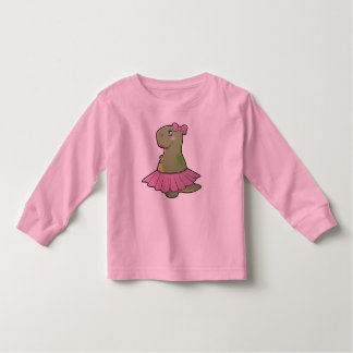 Girls Dinosaur T-Rex Long Sleeve Shirt
