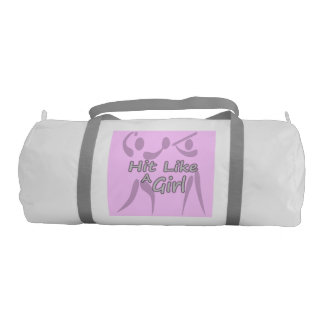 Girls Double Sided Pink Softball Gym Bag
