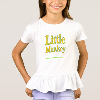 Girls Dress Shirt with Art from Little Monkey