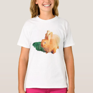 """Girl's """"EASTER BUNNY"""" T-shirt (White)"""