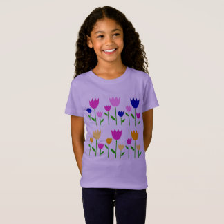 Girls easter t-shirt with Tulips