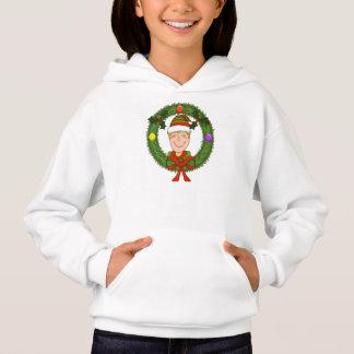 Girls Elf Holiday Hoodie