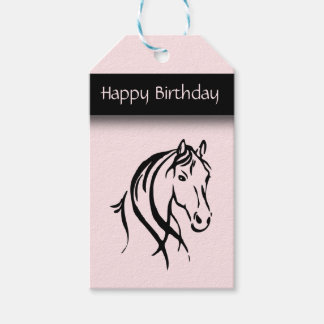 Girls Equine Birthday Gift Tags