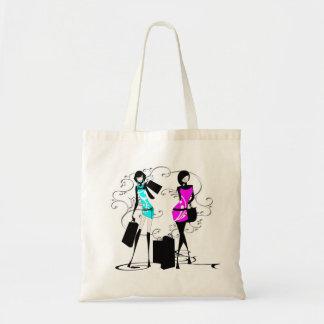 Girls fashion models chic elegant tote bags