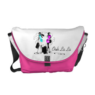 Girls fashion models french chic messenger bags