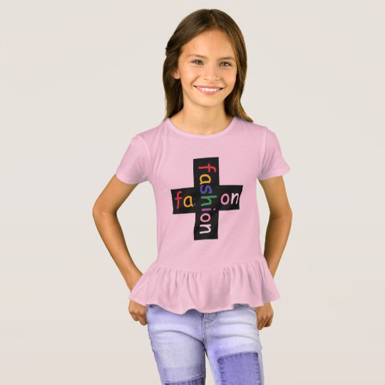 girl's fashion x2 ruffle tee by DAL