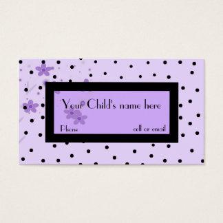 Girl's fashionable calling card