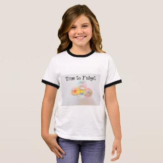 Girls Fidget Spinner T-Shirt
