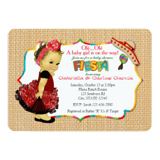 Girls Fiesta Baby Shower Invitations Party 083