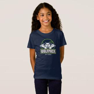 Girls' Fine Jersey Blue WolfPack T-Shirt