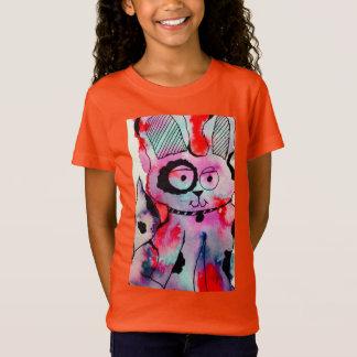 Girls' Fine Jersey Doggy Design T-Shirt