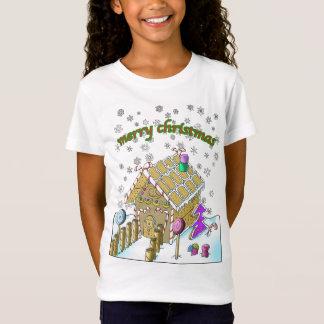 Girls' Fine Jersey T-Shirt, Merry Christmas T-Shirt