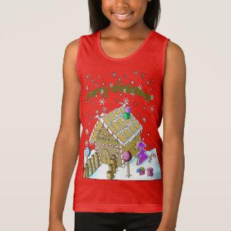 Girls' Fine Jersey Tank Top, Merry Christmas