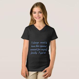 girl's fine jersey v-neck t-shirt