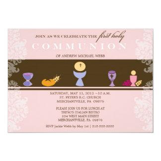 Girl's First Communion Invitation