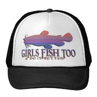 GIRLS FISH TOO CATFISH MESH HATS
