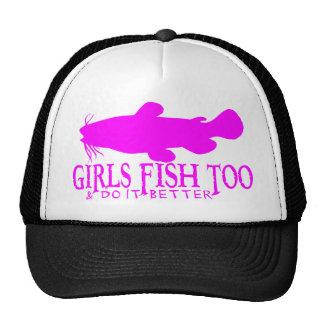 GIRLS FISH TOO CATFISH TRUCKER HATS