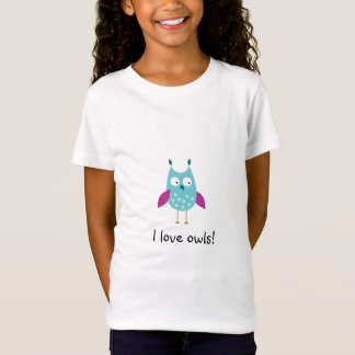 Girl's Fitted Owl Shirt