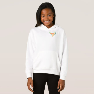 Girls' Fleece Pullover Hoodie toddnado
