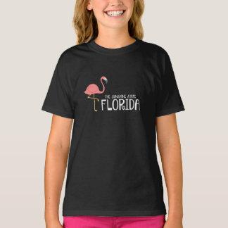 Girl's Florida The Sunshine State Pink Flamingo T-Shirt