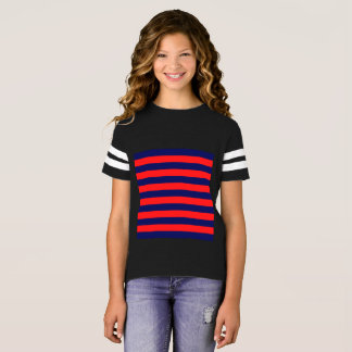 Girls football old-stripes Tshirt