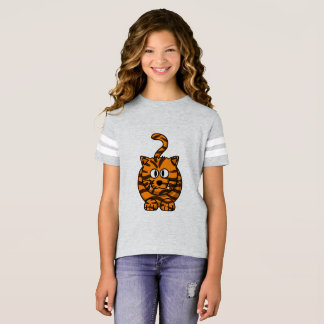 Girls' Football Shirt with tiger motive