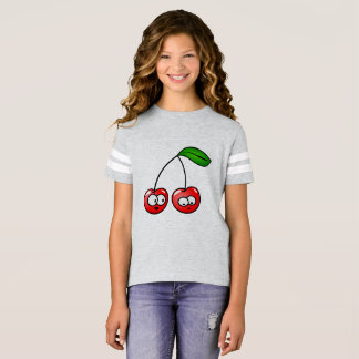Girls Football Tshirt Cherry Talk Berry&Jerry