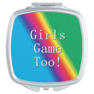 Girls Game Too Rainbow Mirror Compact