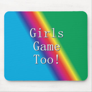 Girls Game Too Rainbow Mouse Pad