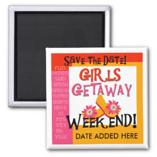 Girls Getaway Save the Date Magnet