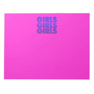 Girls Girls Girls Graphic Notepad