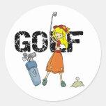 Girls Golf Round Sticker