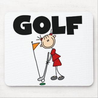 Girls GOLF Tshirts and Gifts Mouse Pad