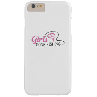 GIRLS GONE FISHING Funny Gift Barely There iPhone 6 Plus Case