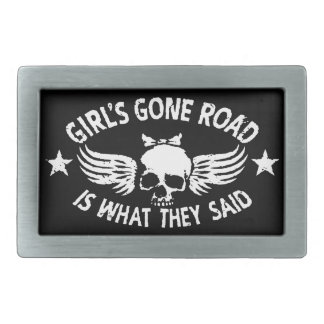 Girl's Gone Road Belt Buckle