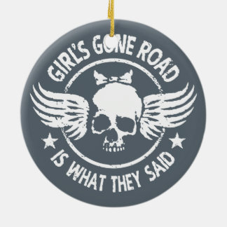Girl's Gone Road Ceramic Ornament