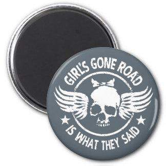 Girl's Gone Road Magnet