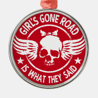 Girl's Gone Road Metal Ornament