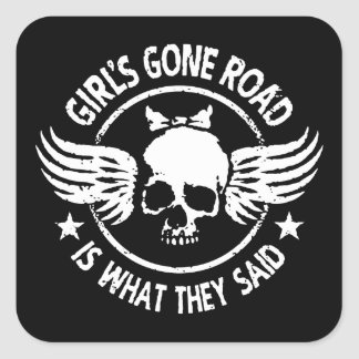 Girl's Gone Road Square Sticker
