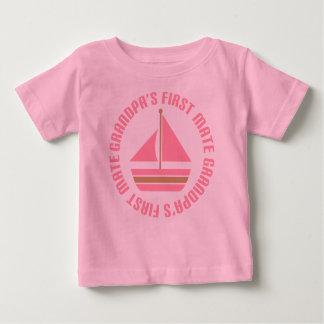 Girls Grandpa's First Mate Sailing Gift Tee
