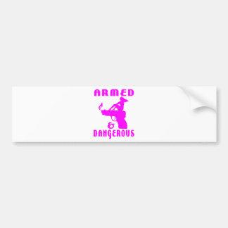 GIRLS & GUNS BUMPER STICKER