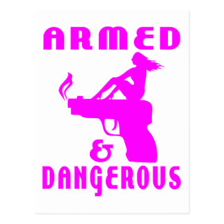 GIRLS & GUNS POSTCARD