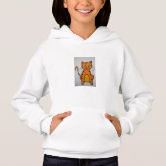 GIRLS' HANES COMFORTBLEND HOODIE - CARTOON CAT