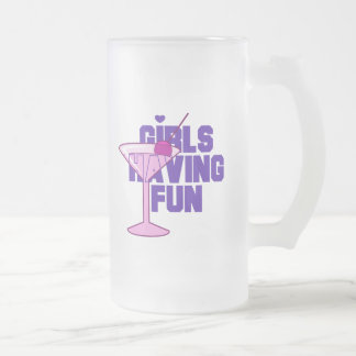 Girls Having Fun Bachelorette Tshirts and Gifts Frosted Glass Mug
