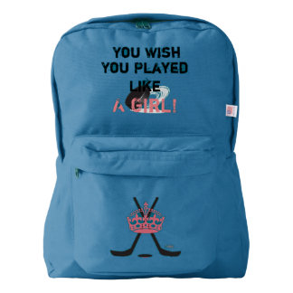Girls Hockey Backpack ~ Back to School