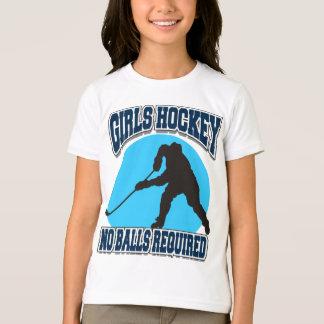 Girls Hockey - No Balls Required Kids T-Shirt