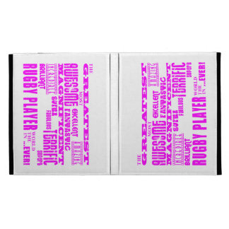 Girls Hockey : Pink Greatest Rugby Player iPad Folio Cover