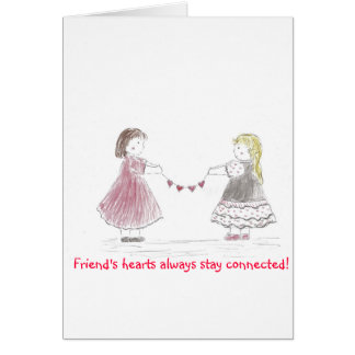 Girls Holding Heart Chain Card